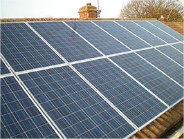Image of solar panels on a residential roof